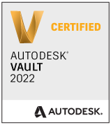 Zertifizierungsbescheinigung für Autodesk Vault 2022